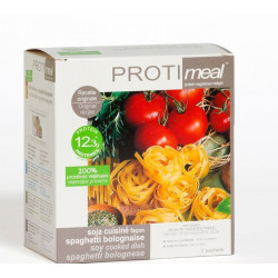 Protimeal - Soja cuisiné façon spaghetti bolognaise, riche en protéine végétale