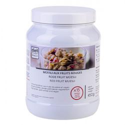Muesli protéiné céréales fruits rouges