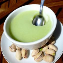 Flan pistache riche en protéines