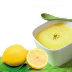 Flan citron riche en protéines