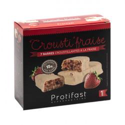 Barre protéinée croustillante fraise