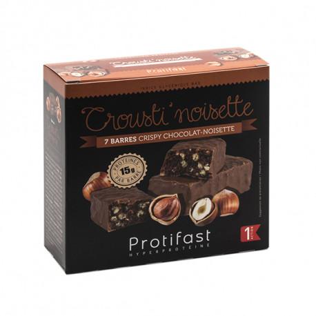 Barre protéinée chocolat noisettes