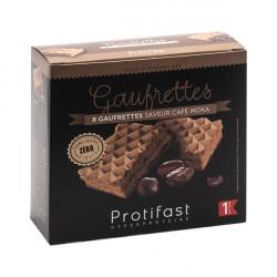 Gaufrette café mocha riche en protéines