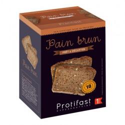 Pain brun tranché riche en protéines