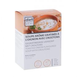 Soupe protéinée oignon avec croûtons