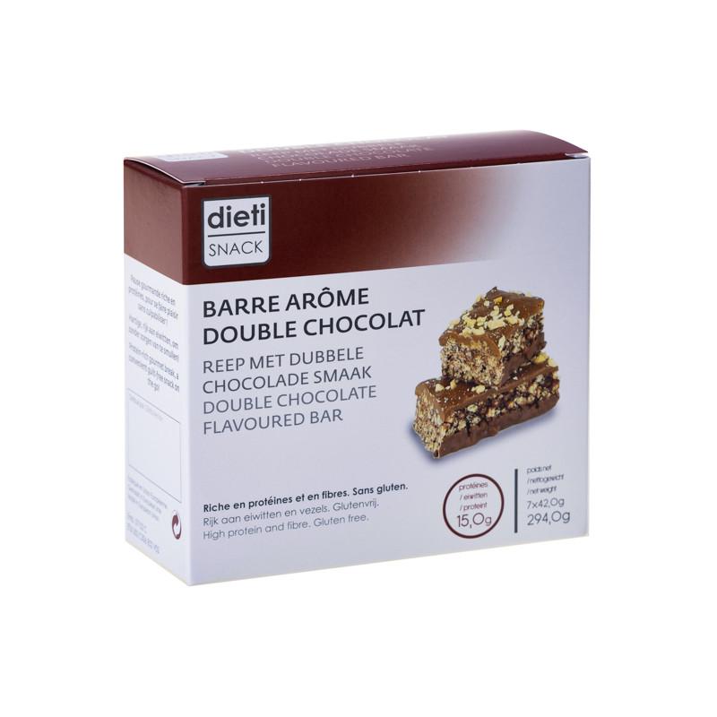 Chrono-nutrition barre croustillante double chocolat riche..