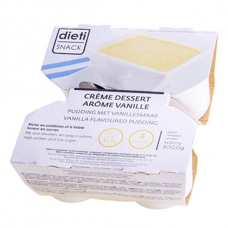 Crème dessert vanille riche en protéines